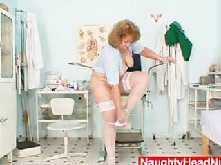 plump old nurse mom acquires wicked in gyn clinic
