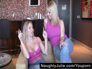 diamond's first strapon – lesbo blonde melons