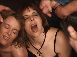two older dilettante wives extreme group-sex