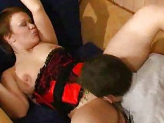 breasty mature honey group-fucked by horny lad