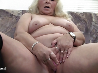 large grandmother loves pleasing herself