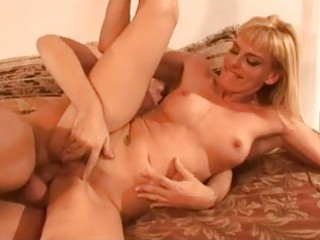 breathtaking blond milf with great gazoo rides