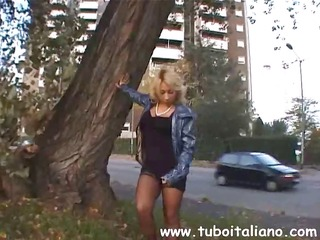 public pissing blond acquires back to the
