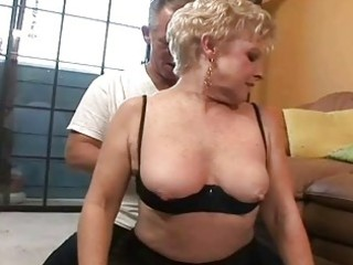 worthy horny granny gets old ramrod in her cookie