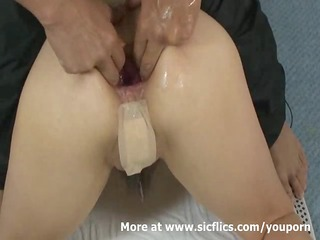 fisting the wifes ass and bizarre anal pumping