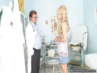 concupiscent doctor abased a older blonde mama