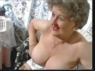 bulky old granny teases in nylons