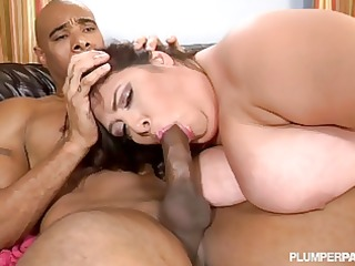 fat bbw latina mother i takes big dark knob in