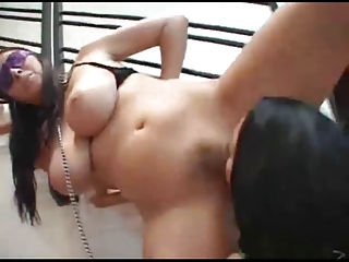 mother i dominates massive boobed brunette