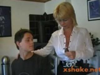 hot german mom teaches juvenile boy
