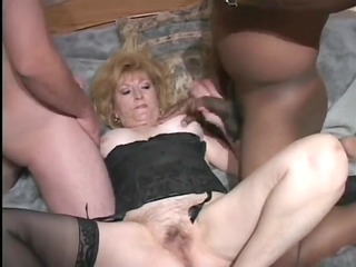 granny in hawt threesome