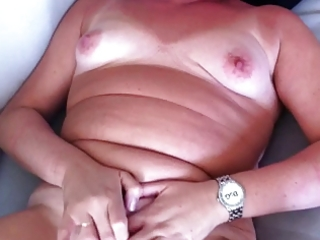 wife wanks and cums for hubby
