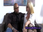 Hung black professor seduces big stacked milf and