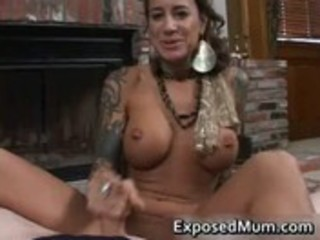 round bigtits tattooed mom fireplace