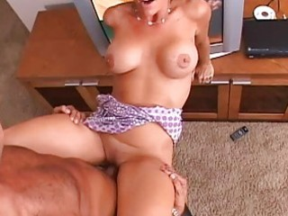 brunette hair pretty milf with large tits getting