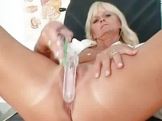 mature frantiska pussy gaping in nurse uniform at