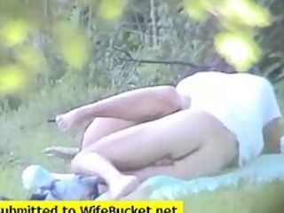 amateur couple caught fucking in the park