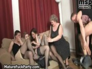 four lustful old wifes having sex