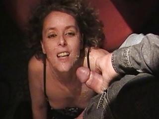 hawt wife sucks off 32 males at the swingers club