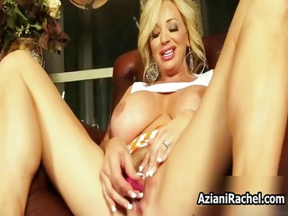 Blonde cougar with massive tits love part1