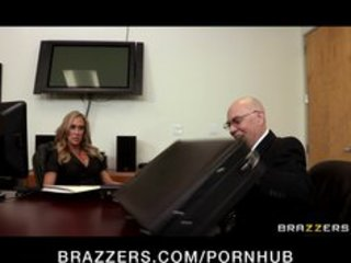 sexually excited big-tit golden-haired milf bonks