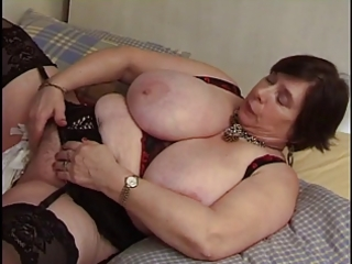 french big beautiful woman aged with toy