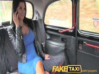 FakeTaxi Exotic stunner in office break taxi fun