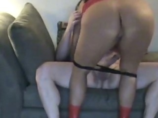 Hot chubby wife with big ass rides cock by