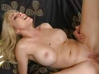 taut wazoo pale blonde momma with huge bosom gets