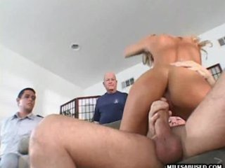 This sexy blonde milf is sucking and fucking
