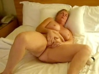 older wife masturbating with toys