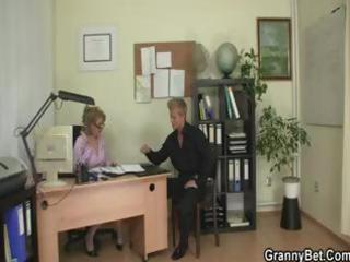 mature blonde office boss makes him bang her hard