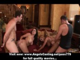 swinger party with breasty wives screwed hard and