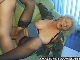 old dilettante aged wife sucks and copulates with
