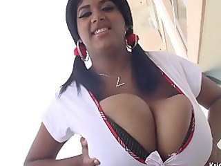 kristina milan is back with huge bouncy bazookas