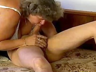 crazy old mamma receives large cock oral and in