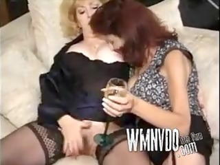 two matures in nylons have a fun a group-sex