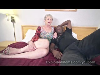 aged lady in creampie interracial video