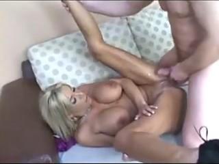 blond milf getting a creampie