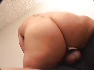 blond mother i in strap squeezes her large