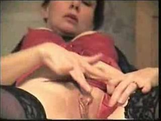non-professional aged milf masturbating her wet