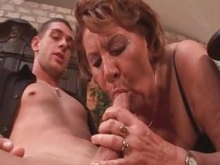 excited 102yo granny sucks on a juvenile boyz