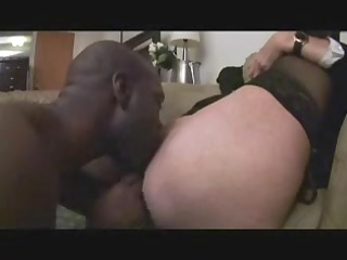 older lady anneke tries the bbc clothed sexy for
