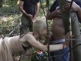 french horny granny group-fucked outdoors