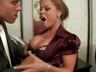 Blonde milf with massive knockers gets rough