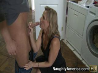 Hot mom fucks her sons friend