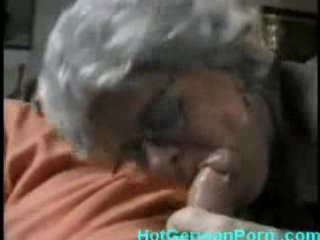 German grandmother catches her boy masturbating