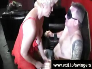 swinger suprise for golden-haired mamma tracey