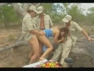 diana - cheating wife gangbanged in jungle