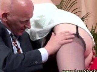 older lady in stockings gets hawt